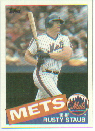 1985 Topps Baseball Cards      190     Rusty Staub
