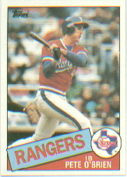 1985 Topps Baseball Cards      196     Pete O Brien