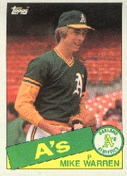 1985 Topps Baseball Cards      197     Mike Warren