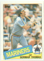 1985 Topps Baseball Cards      202     Gorman Thomas