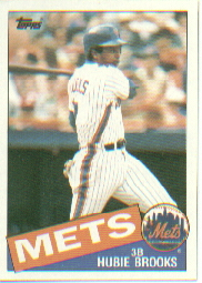 1985 Topps Baseball Cards      222     Hubie Brooks