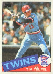1985 Topps Baseball Cards      239     Tim Teufel