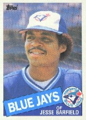 1985 Topps Baseball Cards      024      Jesse Barfield
