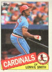 1985 Topps Baseball Cards      255     Lonnie Smith