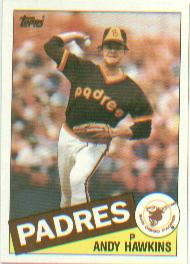1985 Topps Baseball Cards      299     Andy Hawkins