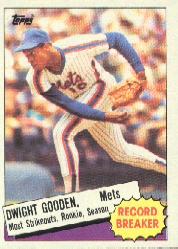 1985 Topps Baseball Cards      003      Dwight Gooden RB RC