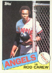 1985 Topps Baseball Cards      300     Rod Carew