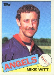 1985 Topps Baseball Cards      309     Mike Witt