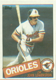 1985 Topps Baseball Cards      316     John Lowenstein