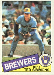 1985 Topps Baseball Cards      318     Ted Simmons