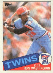 1985 Topps Baseball Cards      329     Ron Washington