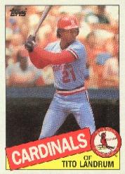 1985 Topps Baseball Cards      033      Tito Landrum