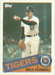 1985 Topps Baseball Cards      333     Willie Hernandez