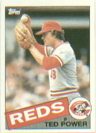 1985 Topps Baseball Cards      342     Ted Power