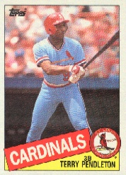 1985 Topps Baseball Cards      346     Terry Pendleton RC