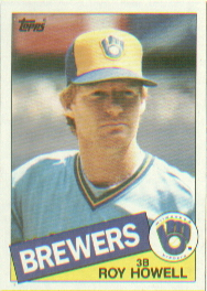 1985 Topps Baseball Cards      372     Roy Howell