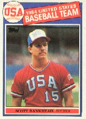 1985 Topps Baseball Cards      393     Scott Bankhead OLY RC
