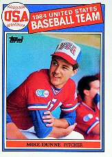 1985 Topps Baseball Cards      395     Mike Dunne OLY RC