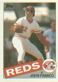 1985 Topps Baseball Cards      417     John Franco RC