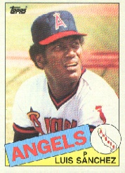 1985 Topps Baseball Cards      042      Luis Sanchez