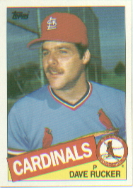 1985 Topps Baseball Cards      421     Dave Rucker