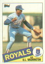 1985 Topps Baseball Cards      431     U.L. Washington