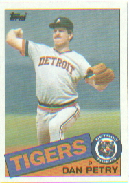 1985 Topps Baseball Cards      435     Dan Petry
