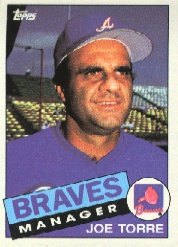 1985 Topps Baseball Cards      438     Joe Torre MG