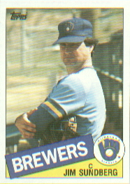 1985 Topps Baseball Cards      446     Jim Sundberg
