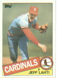 1985 Topps Baseball Cards      447     Jeff Lahti