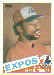 1985 Topps Baseball Cards      448     Derrel Thomas