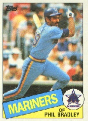 1985 Topps Baseball Cards      449     Phil Bradley