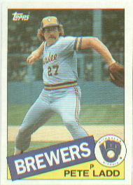 1985 Topps Baseball Cards      471     Pete Ladd