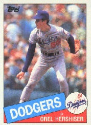 1985 Topps Baseball Cards      493     Orel Hershiser RC