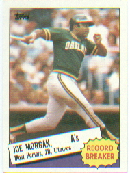 1985 Topps Baseball Cards      005      Joe Morgan RB