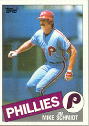 1985 Topps Baseball Cards      500     Mike Schmidt