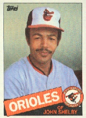 1985 Topps Baseball Cards      508     John Shelby