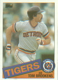 1985 Topps Baseball Cards      512     Tom Brookens