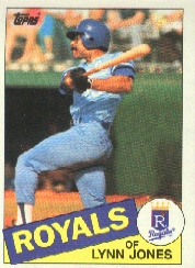 1985 Topps Baseball Cards      513     Lynn Jones