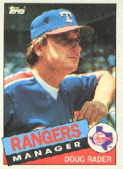 1985 Topps Baseball Cards      519     Doug Rader MG