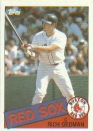 1985 Topps Baseball Cards      529     Rich Gedman