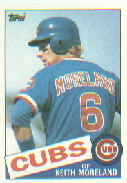 1985 Topps Baseball Cards      538     Keith Moreland