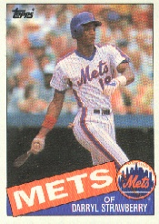1985 Topps Baseball Cards      570     Darryl Strawberry