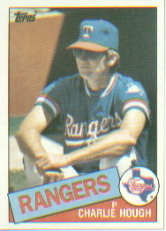 1985 Topps Baseball Cards      571     Charlie Hough