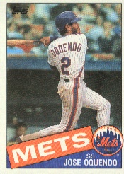 1985 Topps Baseball Cards      598     Jose Oquendo