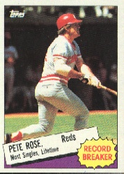 1985 Topps Baseball Cards      006      Pete Rose RB