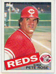 1985 Topps Baseball Cards      600     Pete Rose