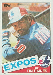 1985 Topps Baseball Cards      630     Tim Raines