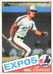 1985 Topps Baseball Cards      658     Mike Stenhouse