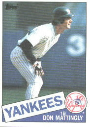 1985 Topps Baseball Cards      665     Don Mattingly